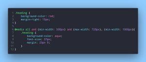 استفاده از کد @media در فایل CSS