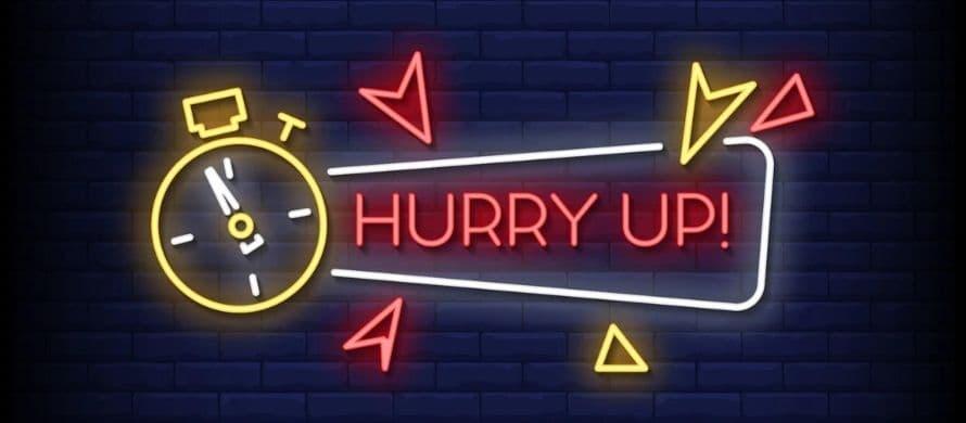 عجله کنید